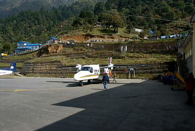 Oct 24th. Lukla Airport.