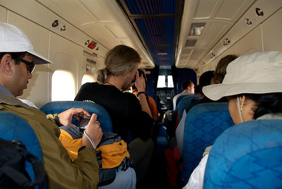 Oct 24th. Inside the aircraft. On the way to Lukla.