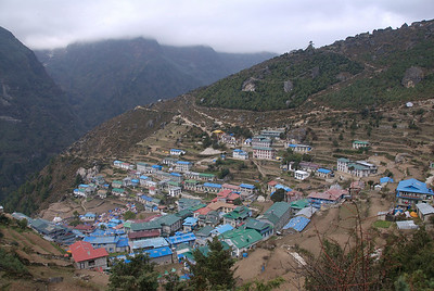 Oct 26th. View of Namche from our way to Everest View Hotel.