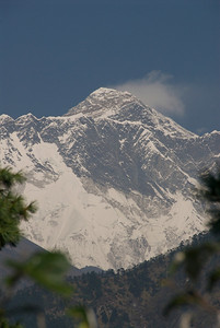 First view of Everest.