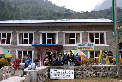 Oct 25th. Phakding. Just before we started for the trek to Namche Bazar.