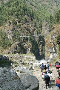 Suspension Bridge on the way to Namche.