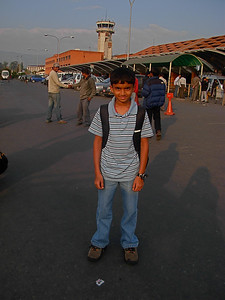 Keshav at Kathmandu Airport. -  Nov 14th.