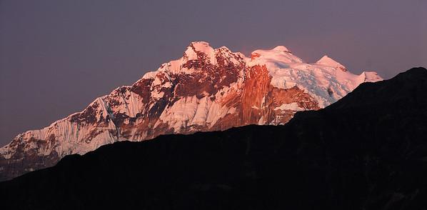 Annapurna I  - 8100 m high peak. Photo taken from Ghorepani, Nepal on Nov 22nd