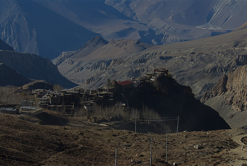 View of Jharkot from Muktinath.