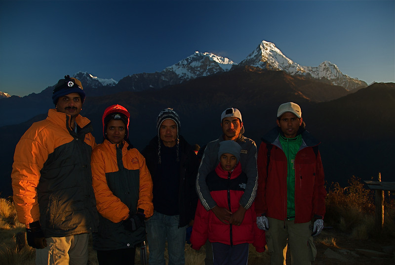 Poon Hill, with Jitu, Dal Bahadur and Saroj