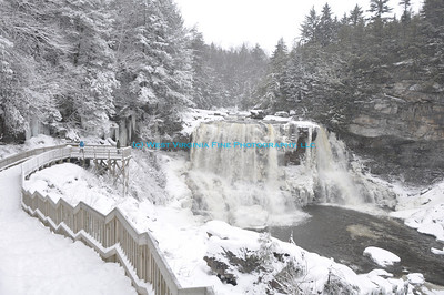 A cold and snowy Blackwater Falls.