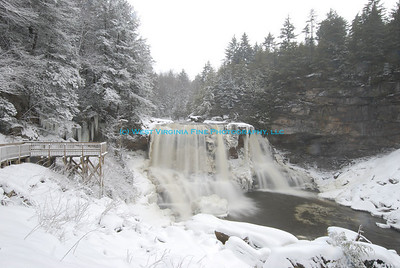 Blackwater Falls in December.