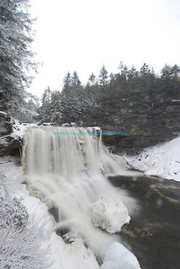 Ice and snow and Blackwater Falls.