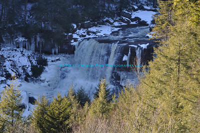 Blackwater Falls in Winter.