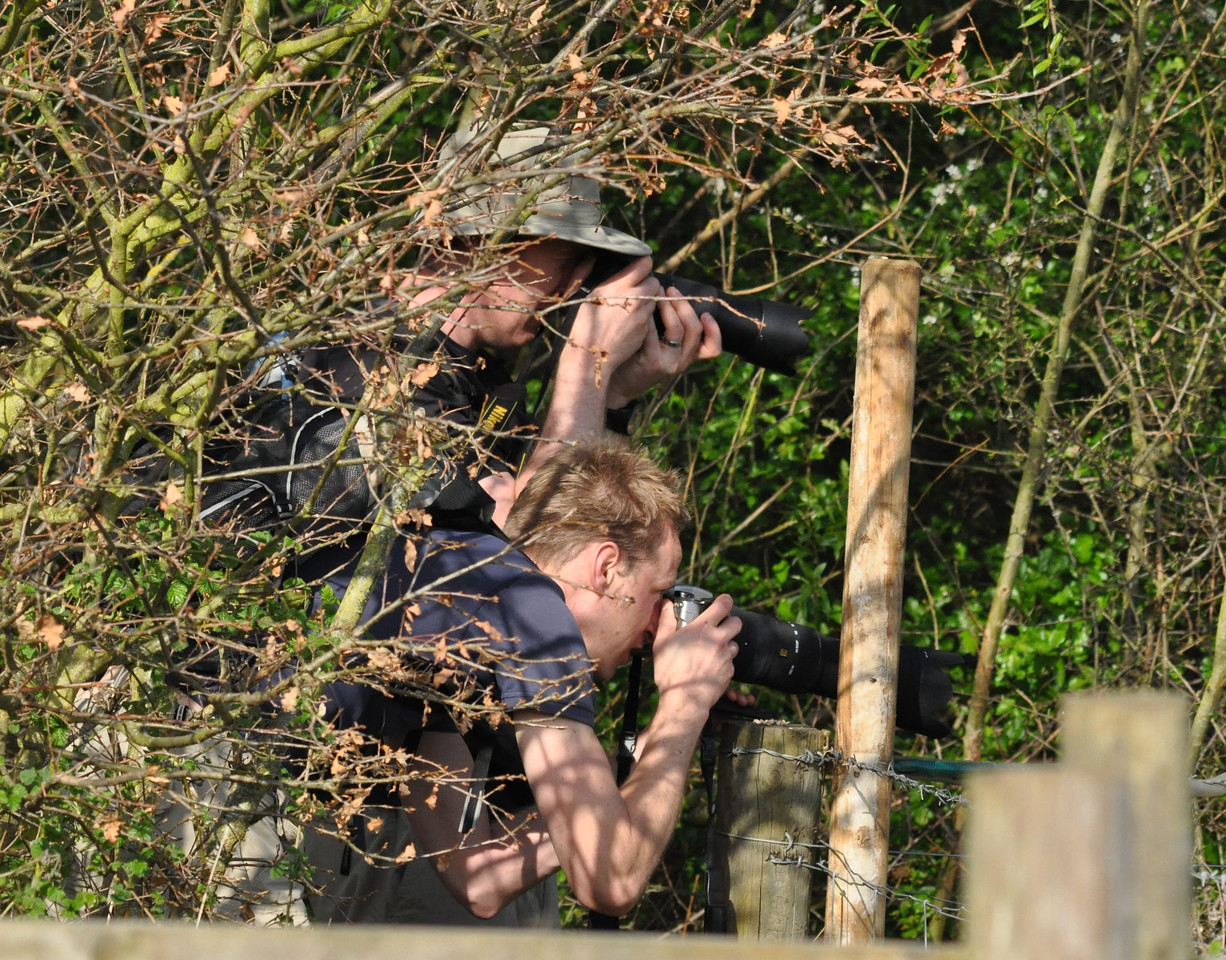 Bird twitchy geeks fire one off Otmoor April 2011