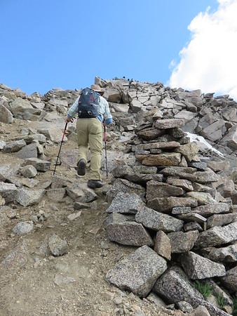 Bill heading toward summit of Mt. Harvard