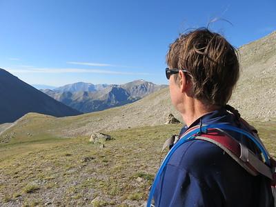 Nat looking back toward Horn Fork Basin