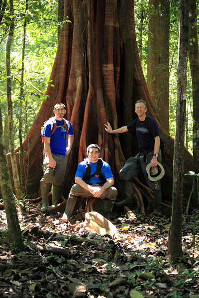 Steve, Chris, and me in the forest near Sirena, Corcovado National Park