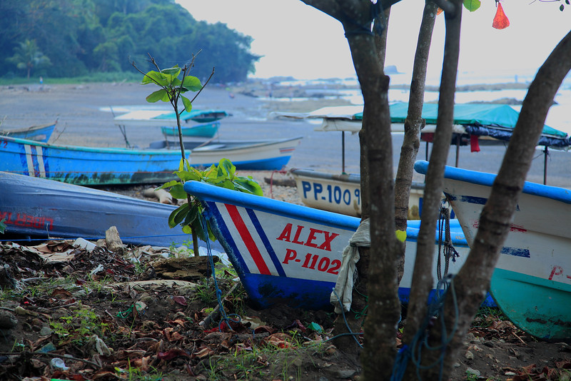 My son Alex has come on this trip four times, but this year he's off at college and doing his own thing.  This boat reminded me of his absence and hinted that Costa Rica was missing him too.