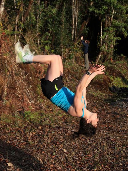 Danielle doing a flip