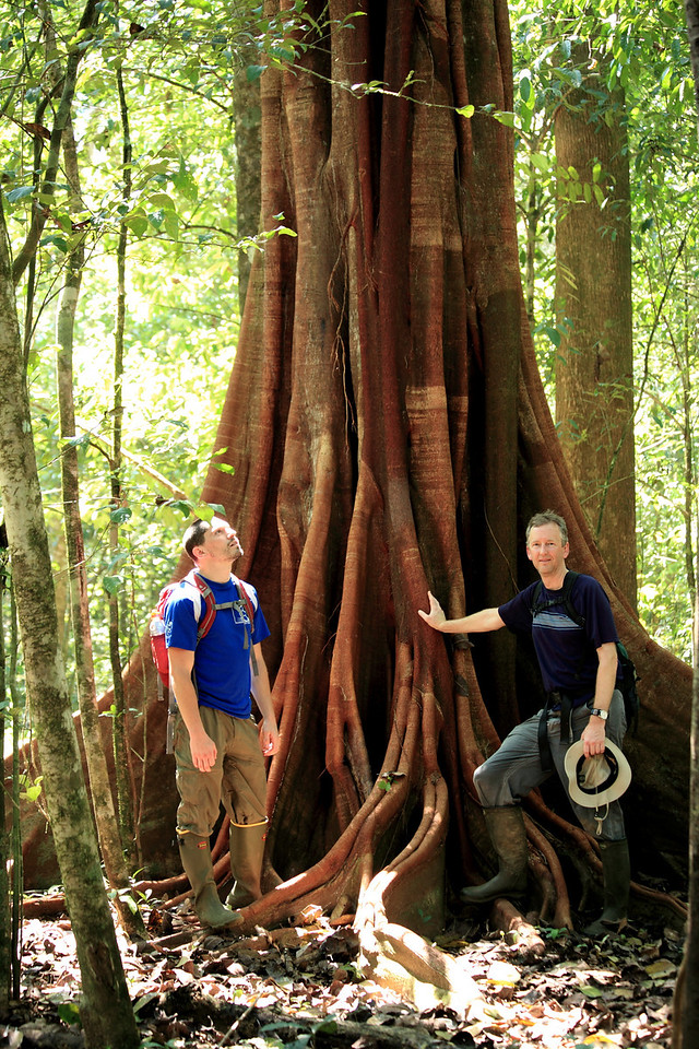 Steve and me in the forest near Sirena, Corcovado National Park