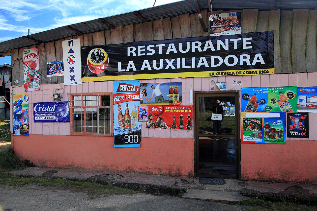 Typical road side restaurant in the mountains along the Pan American highway