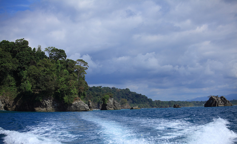Departing Corcovado by boat