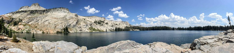 iPhone pano of May Lake with Mt Hoffmann overlooking the lake on the left. I'm beginning to be more impressed with some of the features of the iPhone camera.