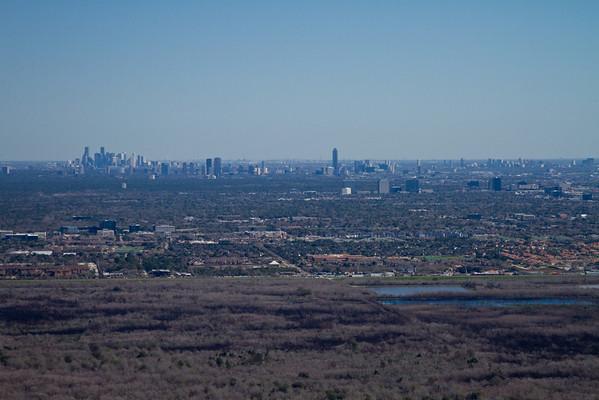 George Bush Park - Addicks Reservoir.  Looking due East toward downtown Houston