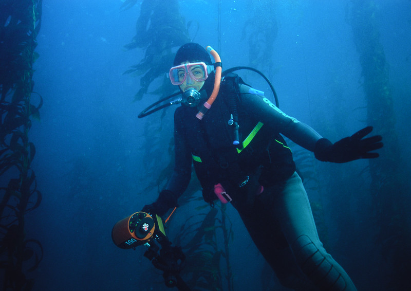 Diver Maiden in kelp