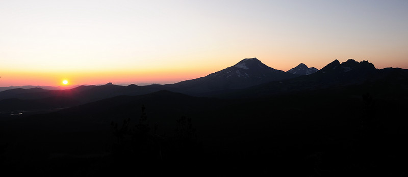 On a whim I decided to hike up Tumalo Mountain at sunset.  Glad I did.