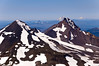Middle Sister, North Sister, Mt. Washington, Mt. Jefferson, Mt. Hood, Mt. Adams.