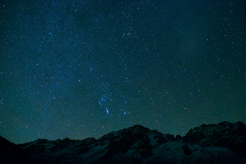 night, moonless, sky, mountain, switzerland, uri, alps