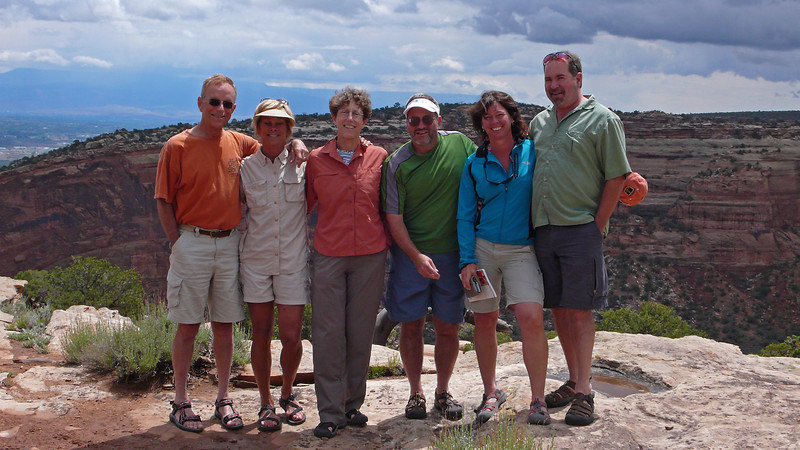 Bob, Rosie, Pepi, Jason, Laurie, Greg, Colo Nat'l Monument