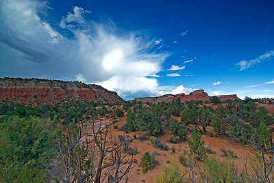 Storm Clouds pass over Capitol Reef National Park