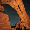 Stars through North Window in Arches National Park