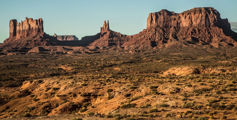Another early morning view of Monument Valley, from the Utah side
