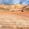 Looking up a steep slope in Zion National Park, Utah.