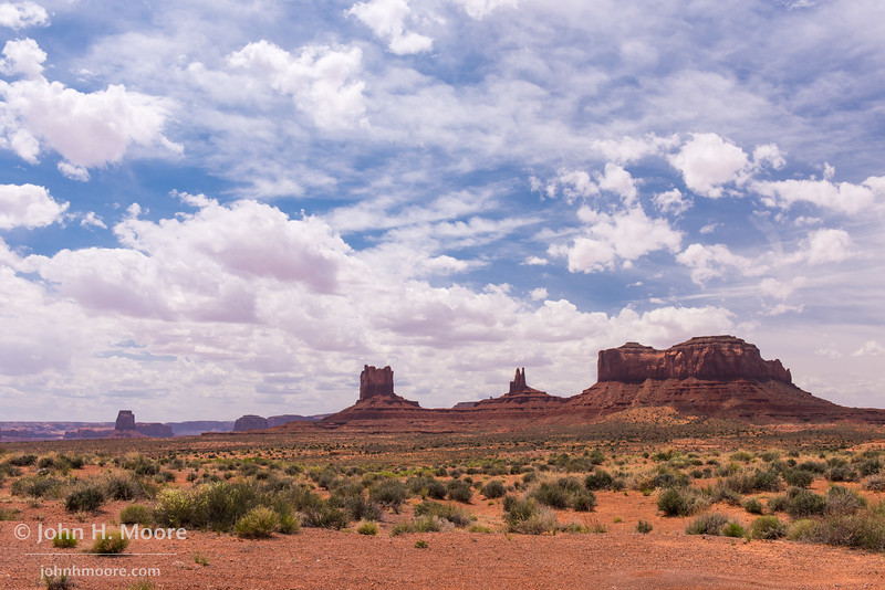 Just north of Monument Valley, along Highway 163.  Southern Utah.