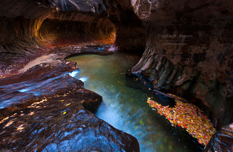 """The """"Subway"""" formation at Zion National Park."""