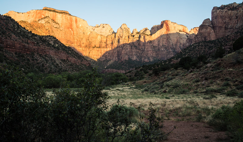 Sun up in Zion National Park