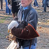 Belinda Burwell hold  eagle
