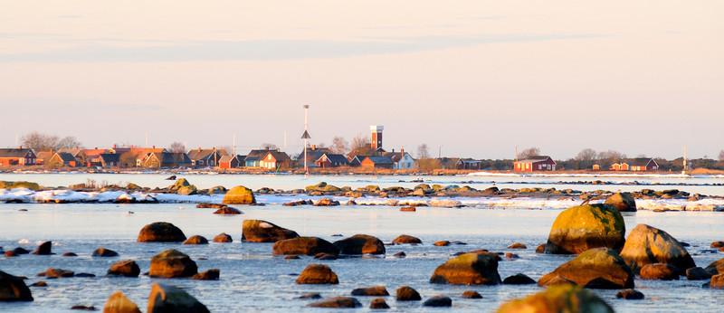 Vy mot Långören från Torhamnsudde