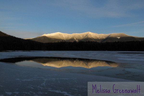 Lonesome Lake is transformed into a portal to winter; the combination of not-quite-frozen water and fiery peaks (the Franconia Ridge) was, frankly, mesmerizing.