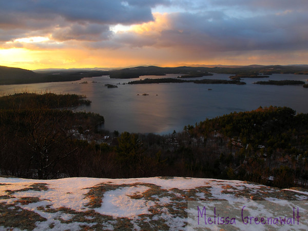 Rock meets fire meets water meets air; the elements get together and have a party.  Not a bad way to greet the day!<br /> <br /> Squam Lake, NH