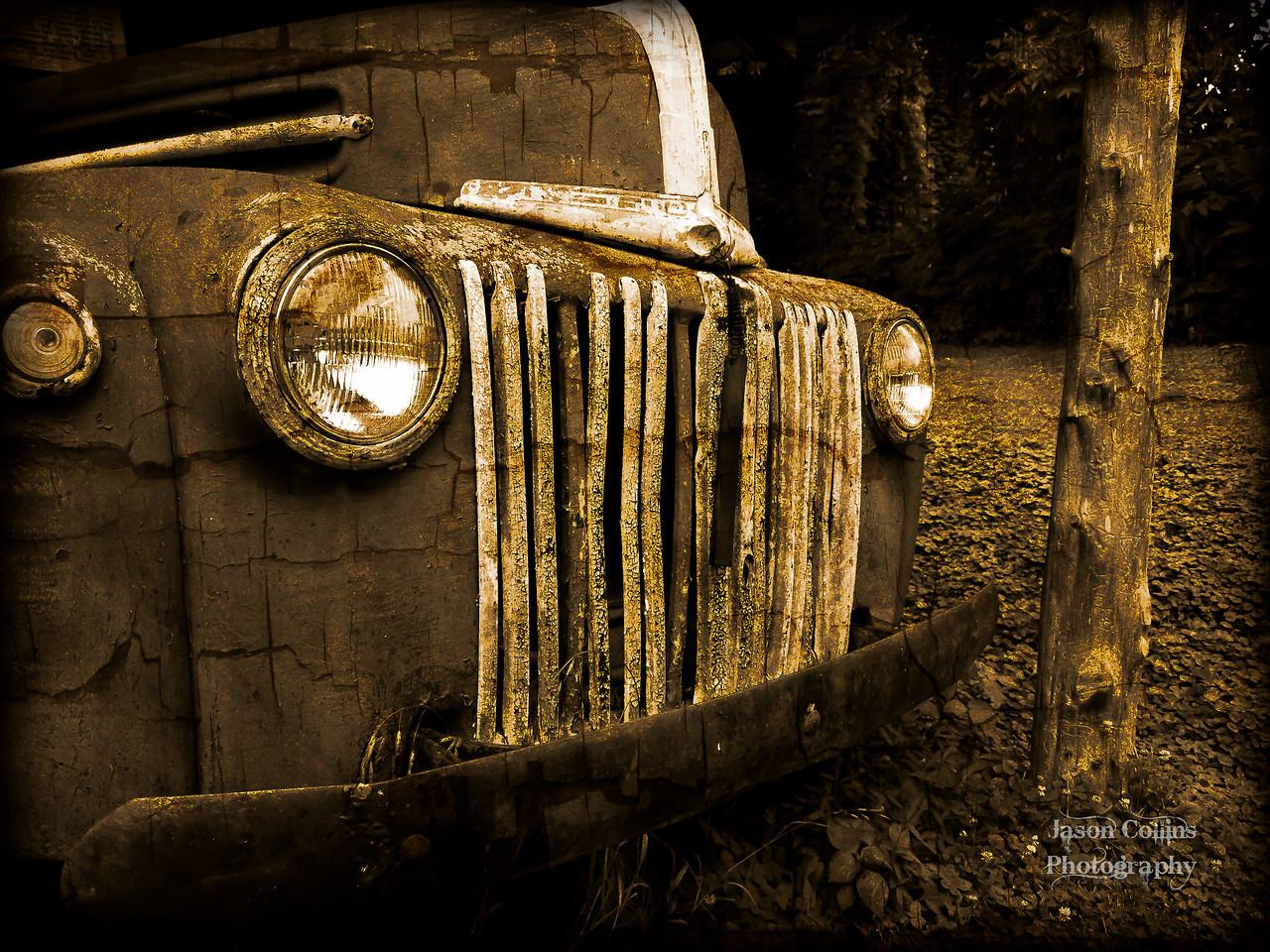 Old Ford Dually...Slightly aged