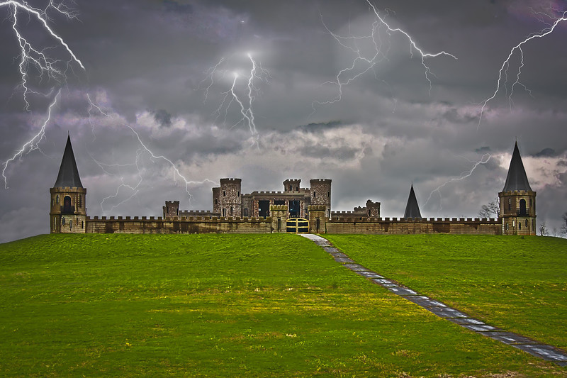 Stormy Night at Castle Post - Versailles, Kentucky