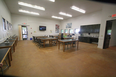 The main educational classroom inside the Discovery Center.