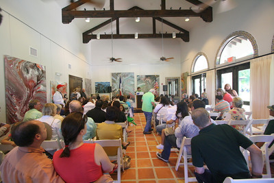 This is the main meeting room inside the newly opened Discovery Center at Quinta Mazatlan.  The Discovery Center is a building where young and old alike can learn about the great outdoors that surrounds us.  The building was built with environmentally secure products.