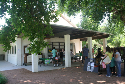 One of the two large outdoor learning areas at the Discovery Center.