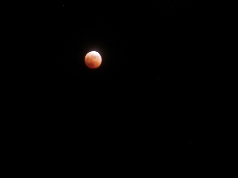 Lunar Eclipse October 28, 2004 from north of Nederland, Colorado
