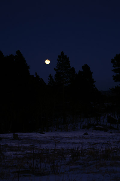 Lunar Eclipse and Moonrise, Nederland, Colorado