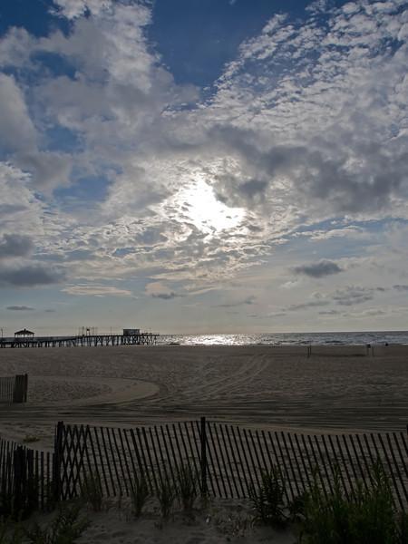 Belmar Beach in morning