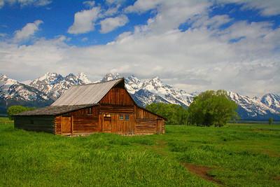 Mormon Barn near Jackson, Wyoming